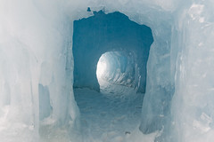 Ice Cave, Part of the Ice Castles Display [Explore] (aaronrhawkins) Tags: icecastles tunnel cave ice frozen cold winter freeze freezing opening cavern crawn explore midway utah blue icicle aaronhawkins
