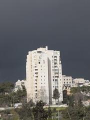 Black Clouds Hovering over Jerusalem-1 (zeevveez) Tags: זאבברקן zeevveez zeevbarkan canon cloud black biblehill