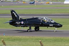 XX239 - 1978 build Hawker Siddeley Hawk T.1W, taxiing for departure at Prestwick (egcc) Tags: 842 cu 075 41h312075 736nas egpk hawk hawkt1a hawkersiddeley jw191 jointwarrior jointwarrior191 lightroom pik prestwick rn royalnavy xx239