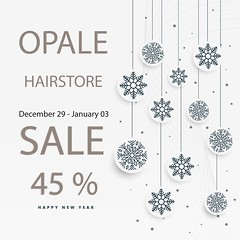 SALE 45% . December 29 - January 03 . Opale Hair (Opale HairStore) Tags: christmas merry happy xmas holiday vector background winter december season card greeting celebration new year festive festival poster design event invitation graphic snow flake snowflake snowfall frost