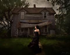 Hearing A Voice ({jessica drossin}) Tags: woman jessicadrossin portrait spooky dark haunted house farm country wwwjessicadrossincom