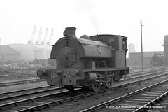 21/01/1961 - Port of London Authority, Millwall Docks, London. (53A Models) Tags: portoflondonauthority pla hawthornleslie hl31771953 040st 57 industrial steam millwalldocks train railway locomotive railroad london