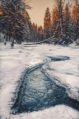 Freeze morning (kubaszymik) Tags: winter cold ice snow january river trees forest creek canon sunrise morning dawn sun sky colors