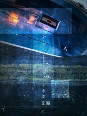 Draft Marks on Blue (SGarriott) Tags: sgarriott scottgarriott olympus omd em5ii 714mmf28 wideangle wide ship vessel boat fishing industry steel hull bow shipsbow draft draftmarks draftmarkings blue kristiansand norway norge skip båt skrog blå stål marine maritime