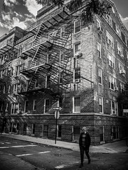 West Village (Vincent F Tsai) Tags: streetphotography street urban scenery travel city newyorkcity nyc blackandwhite monochrome shadow sky panasonic lumixg14mmf25 lumixgx8