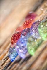 Colorful abstraction {Explored, Feb. 14th, 2019} ((Virginie Le Carré)) Tags: coloré colorful macro pdc goutte drop lumière light summer été objet diagonale extérieur outside explored