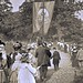 'I am the good shepherd' banner in the Sunday School May Walk parade, Bronx, N.Y ca1898