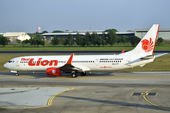 HS-LTT Thai Lion Air Boeing 737-9GP(ER)(WL) at Don Meuang Airport Bangkok on 13 January 2019 (Zone 49 Photography) Tags: aircraft airliner airplane aeroplane january 2019 vtbd dmk bangkok thailand donmeuang airport sl tlm thai lion air boeing 737 739 900 9gp er hsltt