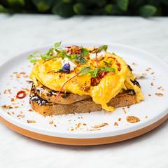 _22A8542 (Jono Cowan) Tags: cafe food melbourne coffee brunch yolk egg breakfast latte
