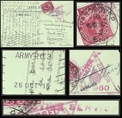 British Columbia / B.C. Postal History / WWI / Censored Postcard - 26 October to 11 November 1915 (Army in France) - ARMY P.O. 3 (Boulogne, France) via Vancouver, B.C. to MARINE HEIGHTS, B.C. (split ring / broken circle cancel / postmark) (back) (Treasures from the Past) Tags: circulardatestamp postalwayoffice postmaster postoffice britishcolumbia postalhistory bc county splitring brokencircle splitcircle postmark cancel cancellation marking son mail letter stamp canada britishcolumbiapostalhistory canadapost marineheights pointgrey vancouver censored sacredheartconventschool boulognefrance