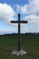 Cross @ Andilly @ Via Gebennensis from Col du Mont Sion to Frangy (*_*) Tags: march hiver winter 2019 europe france hautesavoie 74 savoie marche walk trail randonnée nature mountain caminodesantiago pelerinagedesaintjacquesdecompostelle viagebennensis cross croix christian catholic
