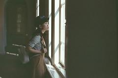 台南文學館其實很美 (Mr.Sai) Tags: pentaxspf takumarsmc50mmf14 fuji8563250dcinefilm ecn2 process analog filmisnotdead filmphotography 高雄自由沖掃 taiwan tainan portrait rena girl 台南文學館
