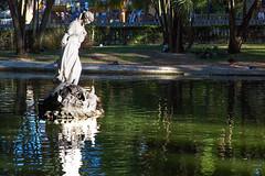Statue in a Pond _7812 (hkoons) Tags: capital city europe lisbon people portugal art artist artistic brass bronze enjoyment landscape natural naturalist nature outdoors sculpture statue stone
