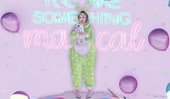 Bunny 🐰 (ღ Sɑrɑɑh Drɑgoone ღ) Tags: genus outfit bunny cute kawaii moemoe sweet shinne bento secondlife sl pic photo love shop pink green ballon pajama