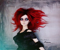 Memory ❣️ (pure_embers) Tags: pure embers resin bjd 13 sd doll dolls ns uk girl elfdoll soah rainy soahrainy pureembers pureemberscrimson crimson photography photo ball joint portrait red hair gothic wall dark eye makeup