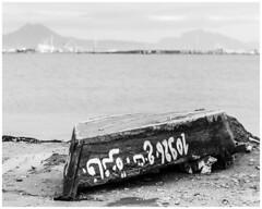 Overturned (nickyt739) Tags: overturned black white boat lake arabic beach bw sand water upside down nikon amateur dslr d750 fx photographer location adventure travel flickrsbest