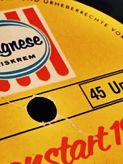 There is a #Hole that needs 45 RPM (Frau D. aus D.) Tags: advertising food lebensmittel music musik icecream eiskrem 1965 werbung langnese single macromondays hole