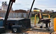 Are You Sitting Comfortably? (whosoever2) Tags: uk united kingdom gb great britain england nikon d7100 train railway railroad february 2019 gbrf class60 60021 winchamwharf 6e09 liverpool drax biomass tractor rust industry