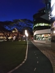 Night run at SMU Campus (Singapore) (Loeffle) Tags: 112017 singapore singapur smu running runningtrack laufbahn nightrun nachtlauf