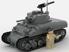 M4A1 V2 (SirLuftwaffles) Tags: lego ww2 sherman warthunder world tanks war tank m4 a1 145 1 45 scale m4a1 youtube video