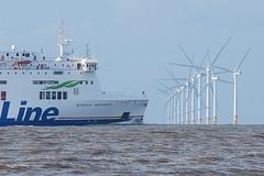 Windfarm (alancookson) Tags: mersey estuary burbobank windfarm wind turbine stenaline carferry ferry crosby beach