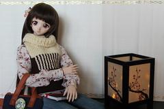 It's been a while since I've made clothes for Yukino.I made her a wool vest. (Ninotpetrificat) Tags: yukino yukino2daver volks wool punto lana vest dd dollfiedream dollfie dollclothes hobby handmade hechoamano cute kawaii japantoys japandoll doll muñeca toys