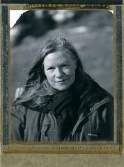 Isabelle - portrait 2 - lumière hivernale (JJ_REY) Tags: portrait montagnes mountains instantphoto polaroid pn55 bw positive peelapart largeformat toyofield45a rodenstock rotelar270mmf56 alsace france