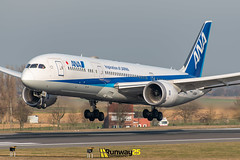 B789 ANA (Runway25 Photography) Tags: airplane airport aircraft aviation air airliner airline zaventem engine ebbr runway brussels bru fly flying sky wings nikon plane photography spotting d5600 flight jet landing wing cockpit belgium