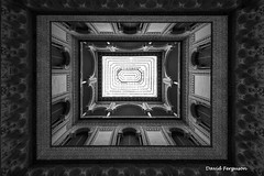 Arabic Palace Skylight (Daveoffshore) Tags: spain monochrome architecture arabic palace ceiling skylight arch intricate delicate geometric