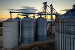 Behind Evergreen FS (eScapes Photo) Tags: dji illinois normal sparky3 agriculture drone grainsilo silo