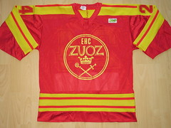 EHC Zuoz Game Worn Jersey (kirusgamewornjerseys) Tags: 1 liga game worn jersey ice hockey switzerland eishockey ehc zuoz ehczuoz