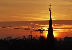 P1130753 Sunset / sonnenuntergang / Kräne (Traud) Tags: germany deutschland bayern bavaria kräne crans sunset sonnenuntergang sky himmel wolken clouds silhouette