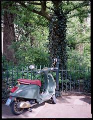 Ferrari Scooter - Amsterdam, Spring 2018 (Brjann.com) Tags: ferrari scooter still life street photography kodak fim film portra160 portra 160 645 medium format analog amsterdam spring