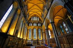 Side aisle of Salisbury Cathedral, UK (Andrey Sulitskiy) Tags: salisbury uk wiltshire england