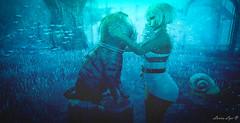 Underwater Dreaming (larisalyn (Rachel)) Tags: cat underwater sea fish snail secondlife girl blonde water ocean