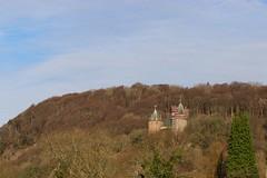 Under repair (AngharadW) Tags: walk sky trees angharadw castle cardiff runningrepairs redcastle castellcoch