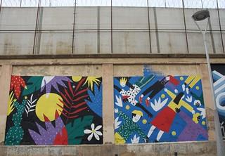 Mural al mur de l'Antiga Presó Model, Barcelona