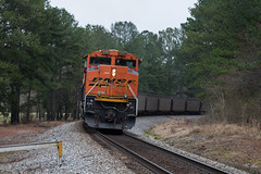 Country ACes in Floyd (travisnewman100) Tags: norfolk southern ns railroad rr freight unit coal burlington northern santa fe 732 atlanta north end georgia division lindale locomotive train
