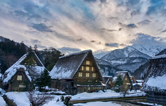 Mystery Smoke (Trey Ratcliff) Tags: treyratcliff stuckincustoms stuckincustomscom aurorahdr hdr hdrtutorial hdrphotography hdrphoto japan shirakawago architecture buildings culture charm snow mountains clouds sunset