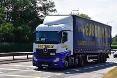 AY16 LXN (Martin's Online Photography) Tags: mercedes actros mp4 truck wagon lorry vehicle freight haulage commercial transport a580 leigh lancashire nikon nikond7200