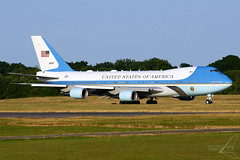 92-9000 - Boeing VC-25A (747-2G4B) - United States Air Force (USAF) (Mark Empson - Bourneavia Photography) Tags: 929000