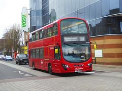 AL DW456 - LJ61CFE - BEXLEYHEATH BROADWAY - SUN 3RD MAR 2019 (Bexleybus) Tags: bexleyheath shopping centre town kent broadway asda da7 arriva london wrightbus gemini daf dw456 lj61cfe tfl route 269