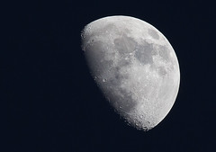 Waxing Gibbous Moon 14th February 2019 (artjjames) Tags: moon gibbous waxing nightsky astro