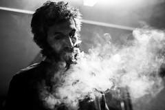 Portrait of Antonio (Davide Tarozzi) Tags: portraitofantonio portrait ritratto fumo smoke man uomo barba biancoenero blackandwhite