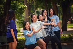 Girl Fun (Rod Waddington) Tags: asia asian vietnam vietnamese hanoi group women girls dancing fun outdoor park happyplanet asiafavorites
