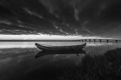 B&W0264 (pixFINEART) Tags: blackwhite sky bridge torreira aveiro ria murtosa portugal water reflections