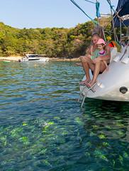 Andrey, Diana, Varvara and Valentina. Phuket Yacht - Maiton and Coral island, 07-Mar-2019 XOKA0601bs2