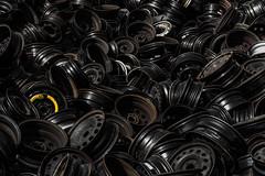 50km/h max. (michael_hamburg69) Tags: norderstedt germany deutschland schleswigholstein autorecycling schrott kfz auto car schrottplatz scrapyard wreckingyard junkyard rim felge felgen rims autofelgen