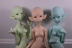 Blank Lichens for the incoming preorder (Le Tama) Tags: bjd ball jointed doll balljointeddoll depthsdolls depths dolls tama urethane lichen ume draugr vampire elf asian color preorder resin