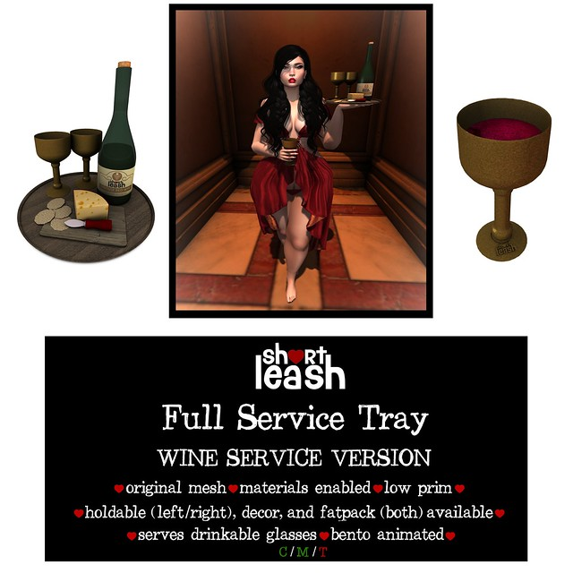 .:Short Leash:. Full Service Tray - Wine Version